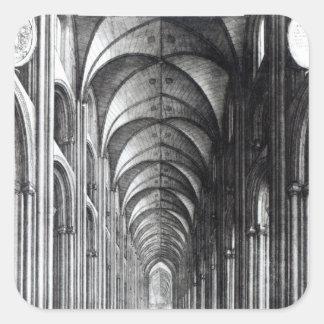 Interior del cubo de San Pablo, 1658 Pegatina Cuadrada