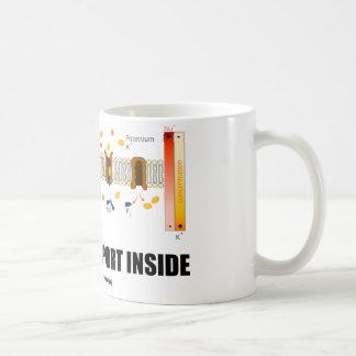 Interior del transporte activo (bomba de taza de café