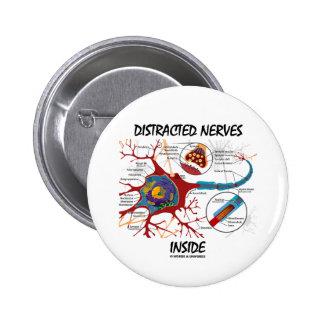 Interior distraído de los nervios (sinapsis) chapa redonda de 5 cm