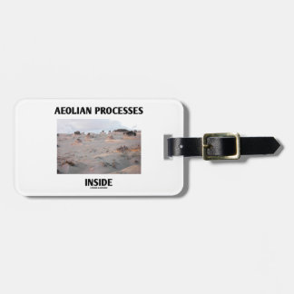 Interior eólico de los procesos (paisaje rocoso) etiqueta para equipaje