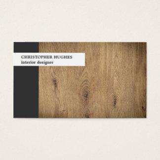 Interiorista de madera de la foto única moderna tarjeta de negocios