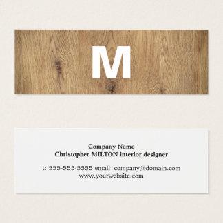 Interiorista intrépido de madera moderno del tarjeta de visita pequeña