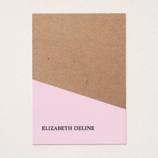 Interiorista subió elegante moderno del papel de tarjeta de negocios