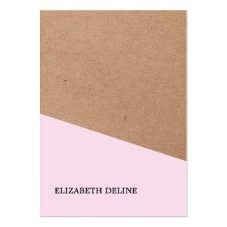 Interiorista subió elegante moderno del papel de tarjetas de visita grandes