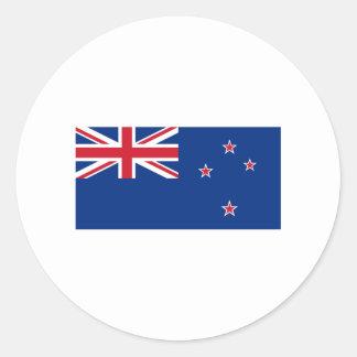 International de la BANDERA de Nueva Zelanda Pegatina Redonda