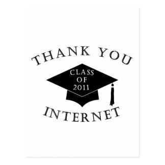 Internet 2011 de las gracias postal