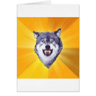 Internet animal Meme del consejo del lobo del Tarjeta