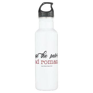 Interrumpa la botella de agua romántica leída