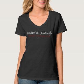 Interrumpa la camiseta con cuello de pico