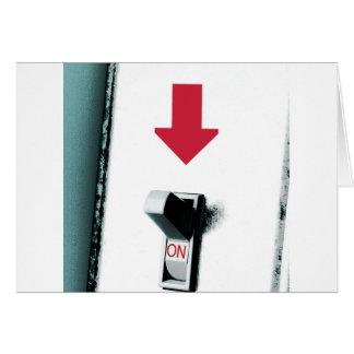 Interruptor de la luz tarjeta de felicitación