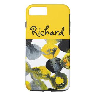 Intertactions amarillo, gris y negro funda iPhone 7 plus