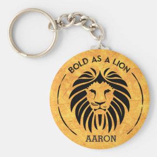 Intrépido como llavero del león