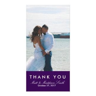 Intrépido gracias los BODAS de la tarjeta el | de Tarjeta Personal Con Foto