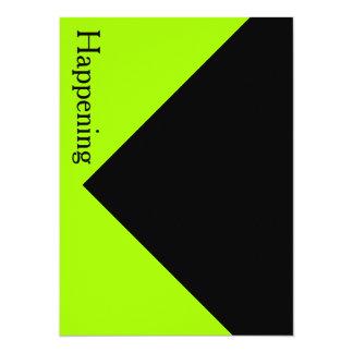 Intrépido moderno negro chartreuse invita a invitación 13,9 x 19,0 cm