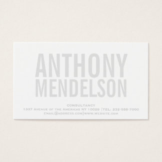 Intrépido simple blanco tarjeta de visita