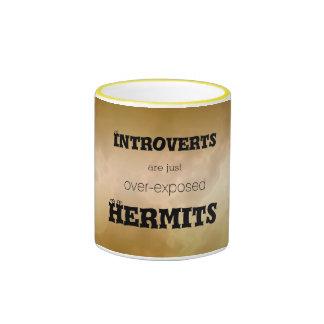 Introverts el mármol del oro de los ermitaños taza de dos colores