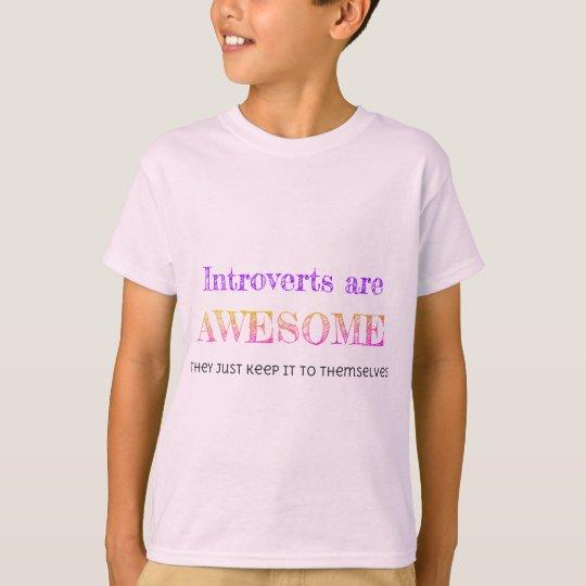 Introverts es impresionante camiseta