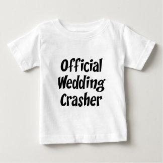 Intruso del boda camiseta de bebé