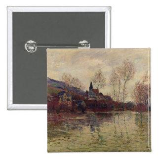 Inundaciones en Giverny, 1886 (aceite en lona) Pins