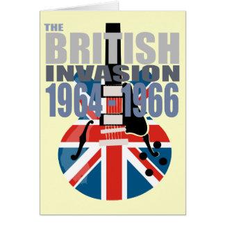 Invasión británica 2 tarjeta de felicitación