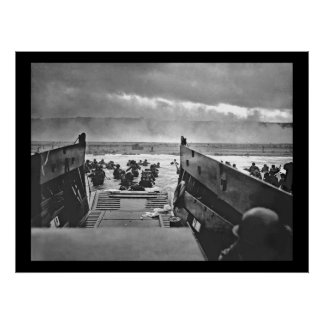 Invasión de Normandía en el día D - 1944 Poster