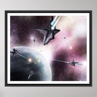 Invasión del espacio póster
