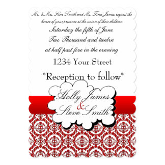 invatation del boda invitación 12,7 x 17,8 cm