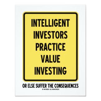 Inversión inteligente del valor de la práctica de invitación 10,8 x 13,9 cm