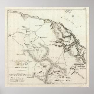 Inversión y ataque de York en Virginia Póster