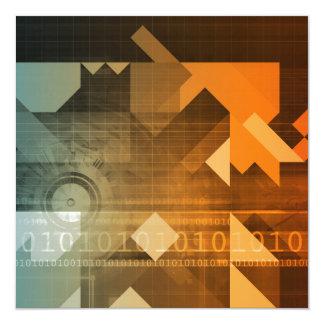 Investigación de la ciencia como concepto para la invitación 13,3 cm x 13,3cm
