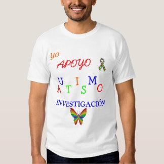 ¡investigación del autismo del apoyo del yo! camiseta