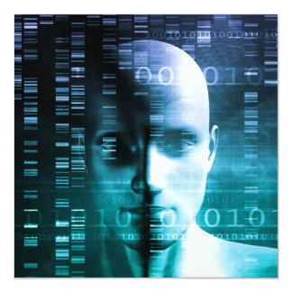 Investigación médica en genética y ciencia de la invitación 13,3 cm x 13,3cm