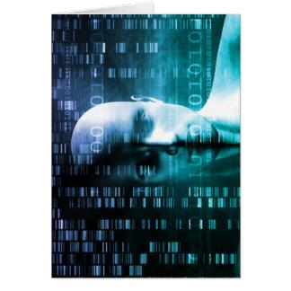 Investigación médica en genética y ciencia de la tarjeta de felicitación