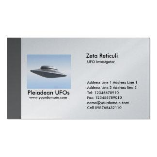 Investigador del UFO del borde - gris Tarjetas De Visita