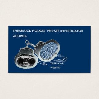 Investigador privado tarjeta de visita