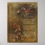 Invictus, poema del Victorian, Guillermo Ernesto H Posters