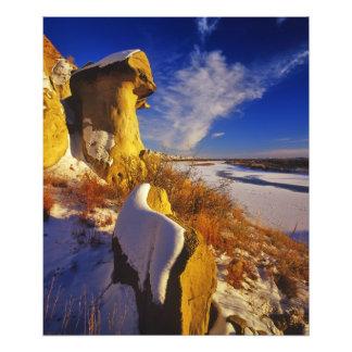 Invierno a lo largo del río Missouri cerca Fotografias