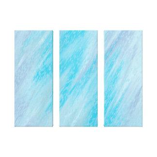 Invierno abstracto escarchado impresión en lienzo