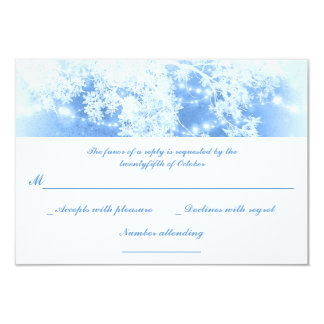invierno azul de las ramas de las luces que casa invitación 8,9 x 12,7 cm