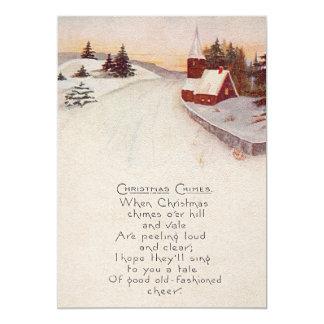Invierno cristiano de la nieve de la iglesia invitación 12,7 x 17,8 cm