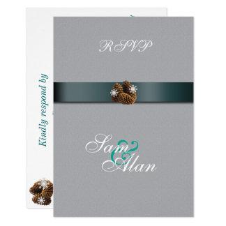 Invierno elegante, elegante que casa la tarjeta de invitación 8,9 x 12,7 cm