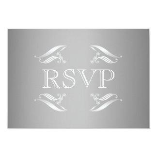 Invierno elegante que casa la tarjeta de RSVP Invitación 8,9 X 12,7 Cm