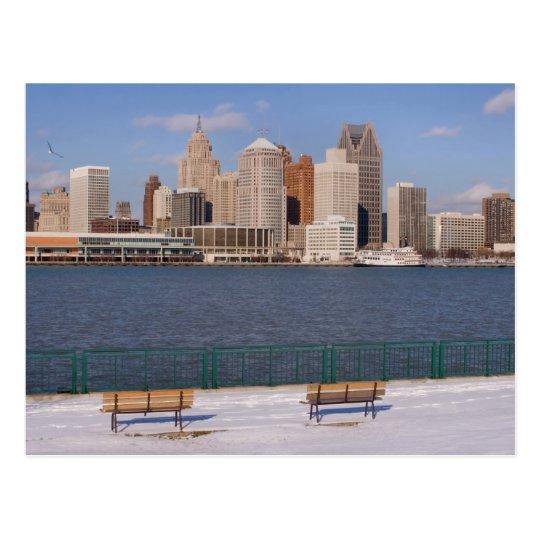 invierno en Detroit Postal