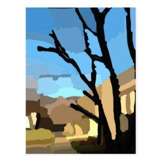 Invierno en la calle del cerezo postal