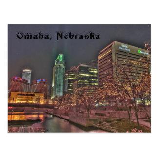 Invierno en Omaha Nebraska Postal