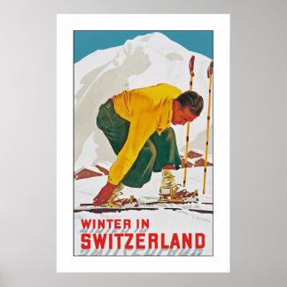 Invierno en Suiza Póster