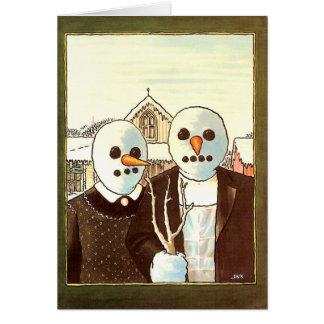 Invierno gótico tarjeta de felicitación