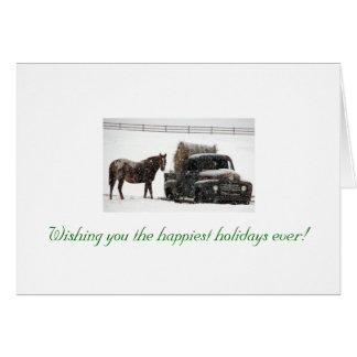 invierno-heno-entrega, deseándole el h más feliz… tarjeta pequeña