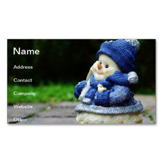 invierno, hombre de la nieve, higo, nieve, muñecos tarjetas de visita magnéticas (paquete de 25)