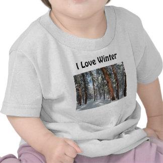 Invierno Ponderosa Camisetas